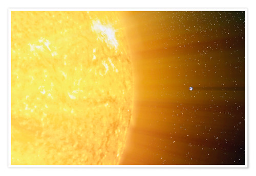 Premium-plakat The relative sizes of the Sun and the Earth