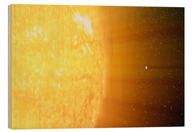 Print på træ  The relative sizes of the Sun and the Earth