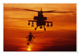 Premium-plakat AH-64 Apache anti-tank helicopters
