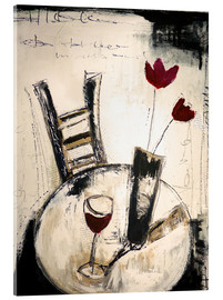 Akrylbillede  A glass of wine - Christin Lamade