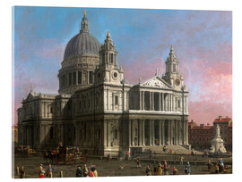 Akrylbillede  St. Paul's Cathedral - Antonio Canaletto