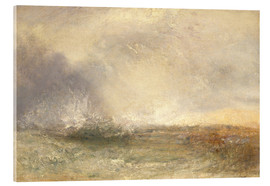Akrylbillede  Stormy Sea Breaking on a Shore - Joseph Mallord William Turner