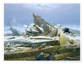 Premium-plakat  The Polar Sea - Caspar David Friedrich