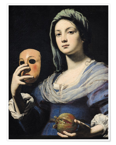 Premium-plakat Woman with a Mask