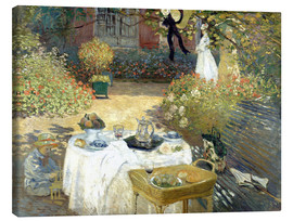 Lærredsbillede  The Luncheon: Monet's garden at Argenteuil - Claude Monet