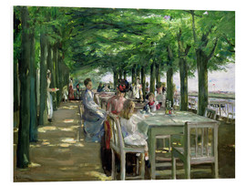Print på skumplade  The Terrace at Jacob's restaurant in Nienstedten - Max Liebermann