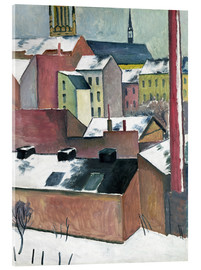 Akrylbillede  The Church of St Mary in Bonn in Snow - August Macke