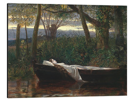 Print på aluminium  The Lady of Shalott - Walter Crane