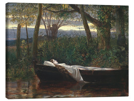 Lærredsbillede  The Lady of Shalott - Walter Crane