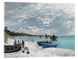 Akrylbillede  The Beach at Sainte-Adresse - Claude Monet