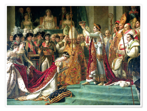 Premium-plakat The Consecration of the Emperor Napoleon and the Coronation of the Empress Jose (detail)