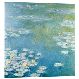 Akrylbillede  Nympheas at Giverny - Claude Monet