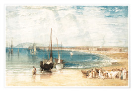 Premium-plakat  Weymouth - Joseph Mallord William Turner