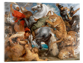 Akrylbillede  The Tiger Hunt - Peter Paul Rubens