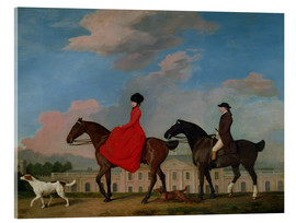 Akrylbillede  John and Sophia Musters riding at Colwick Hall - George Stubbs