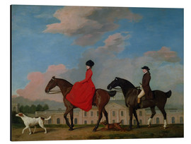 Print på aluminium  John and Sophia Musters riding at Colwick Hall - George Stubbs