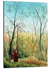 Print på aluminium  The Walk in the Forest - Henri Rousseau