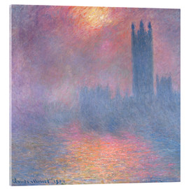 Akrylbillede  The Houses of Parliament - Claude Monet