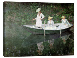 Lærredsbillede  The Boat at Giverny - Claude Monet