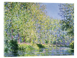 Akrylbillede  Bend in the Epte River near Giverny - Claude Monet