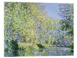 Print på skumplade  Bend in the Epte River near Giverny - Claude Monet
