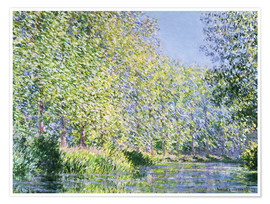 Premium-plakat  Bend in the Epte River near Giverny - Claude Monet