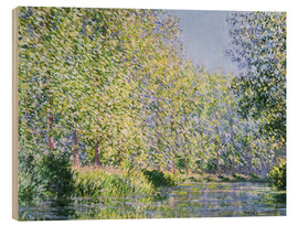 Print på træ  Bend in the Epte River near Giverny - Claude Monet