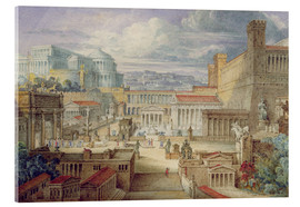 Akrylbillede  A Scene in Ancient Rome - Joseph Michael Gandy