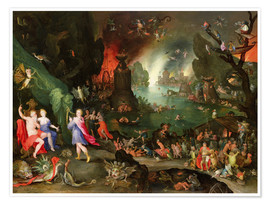 Premium-plakat Orpheus with a Harp Playing to Pluto and Persephone in the Underworld