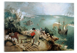 Akrylbillede  Landscape with the Fall of Icarus - Pieter Brueghel d.Ä.