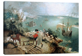 Lærredsbillede  Landscape with the Fall of Icarus - Pieter Brueghel d.Ä.