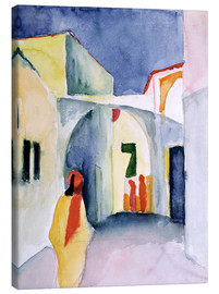 Lærredsbillede  Alley in Tunis - August Macke