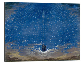 Print på aluminium  The Hall of Stars in the Palace of the Queen of the Night - Karl Friedrich Schinkel