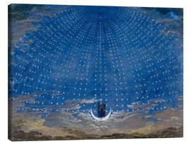 Lærredsbillede  The Hall of Stars in the Palace of the Queen of the Night - Karl Friedrich Schinkel
