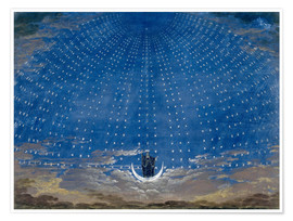 Premium-plakat  The Hall of Stars in the Palace of the Queen of the Night - Karl Friedrich Schinkel
