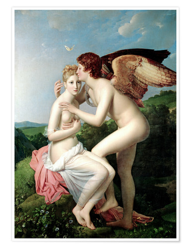 Premium-plakat Psyche Receiving the First Kiss of Cupid