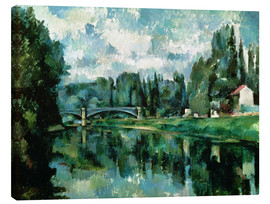Lærredsbillede  The Banks of the Marne at Creteil - Paul Cézanne