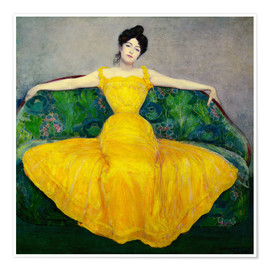 Premium-plakat  Lady in yellow dress - Maximilian Kurzweil