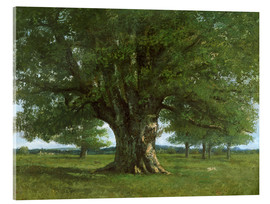 Akrylbillede  The Oak of Flagey - Gustave Courbet
