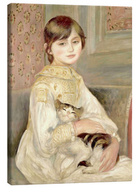 Lærredsbillede  Child with cat (Julie Manet) - Pierre-Auguste Renoir