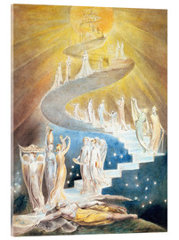 Akrylbillede  Jacob's ladder - William Blake