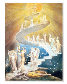 Premium-plakat  Jacob's ladder - William Blake