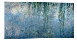 Akrylbillede  Waterlilies: Morning with Weeping Willows - Claude Monet