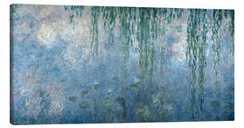 Lærredsbillede  Waterlilies: Morning with Weeping Willows - Claude Monet