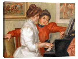Lærredsbillede  Yvonne and Christine Lerolle at the piano - Pierre-Auguste Renoir
