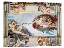 Akrylbillede  Sistine Chapel: The Creation of Adam - Michelangelo