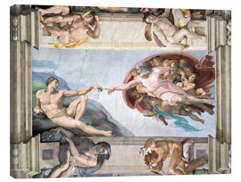 Lærredsbillede  Sistine Chapel: The Creation of Adam - Michelangelo