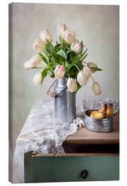 Lærredsbillede  Still life with tulips - Nailia Schwarz