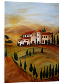 Akrylbillede  Sunrise in Tuscany - Christine Huwer