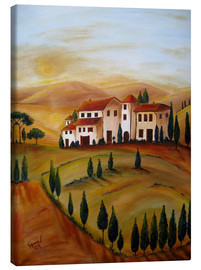 Lærredsbillede  Sunrise in Tuscany - Christine Huwer